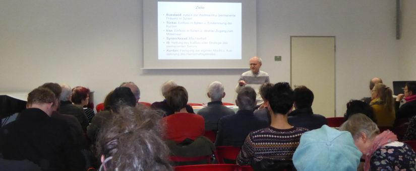 """Vortrag zum Thema """"Die Lage in Syrien und die Zuspitzung des Konflikts Israel-Iran"""